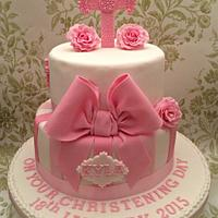 Girly christening cae