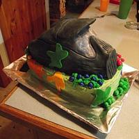 Paintball Mask birthday cake