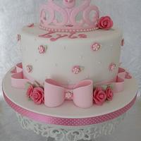 Enjoyable Shabby Chic Birthday Cake Cake By Deborah Cakesdecor Personalised Birthday Cards Vishlily Jamesorg