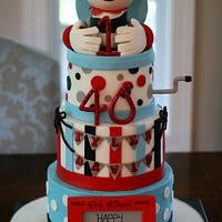 Vintage Toy, Jack-in-the-box Cake