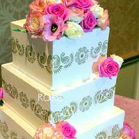 Henna/Mehndi Design Wedding Cake
