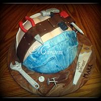 Construction Worker Butt-Crack cake