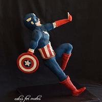 Gravity Defying Captain America Cake