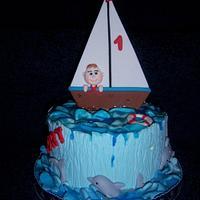 Sailing baby boy