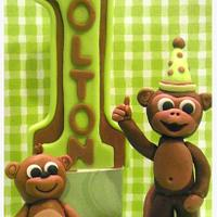 First Birthday Monkey Toppers