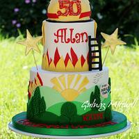 Firefighter's cake