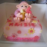 Birthday Cake Maisie's Pink Monkey.