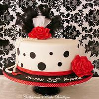 1920's inspired cake/polka dot