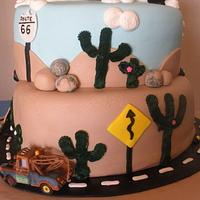 Cars Theme Cake by SugarCo