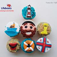 RNLI cake collaboration cupcakes
