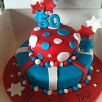 Patriotic 50th Birthday cake  by Tracey