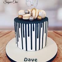 x Navy Drip Cake x
