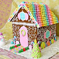 Rainbow Gingerbread House