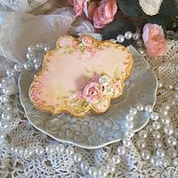 Hand painted and piped keepsake cookies  by Teri Pringle Wood