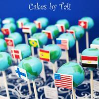 Earth cake-pops by Tali