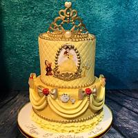 Be our guest - beauty and the beast cake