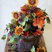 Rustic Buckets with Flowers