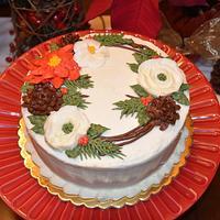 Buttercream Flowers for Christmas!