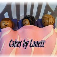 Sleepover Bed Cake by lanett