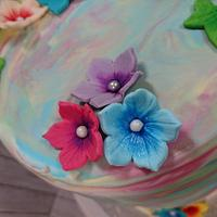 Water color cake by Stertaarten (Star Cakes)