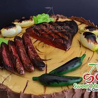 Grilled Rib Eye Steak Cake