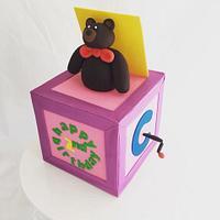 Bear in a box cake