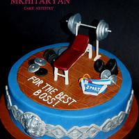 Gym Cake for the best Boss