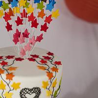 Fashion inspired rainbow cake by chefsam