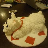 westie cake by catkins