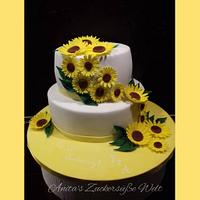 Sunflower Cake for the 20th wedding anniversary