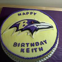 Ravens Football Birthday Cake