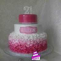 Sparkle Ruffle Cake