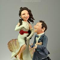 The birth of Venus - Wedding cake topper