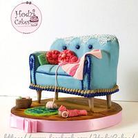 Vintage Sofa Cake 🌸💗