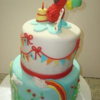 Elmo First Birthday by Sugar Plum Cake Co.