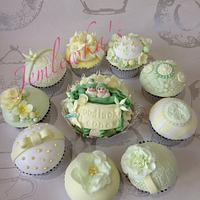 Baby shower for mum expecting twins by Jemlewka's cupcakes