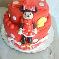 minnies mouse dots cake