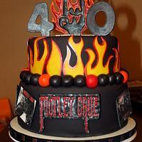 Motley Crue Birthday cake