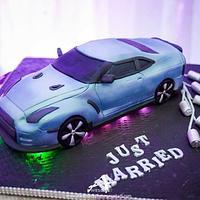 Skyline car cake