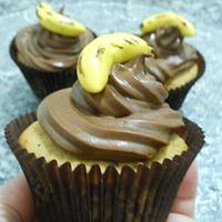 cupcake banana chocolate