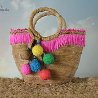 Beach basket bag Cake