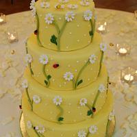 Honey and bees wedding cake