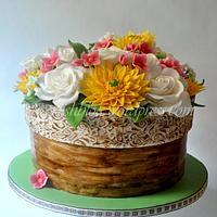 Flower Pot Cake