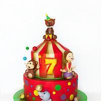 funny circus cake