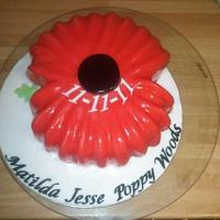 Remembrance Poppy Cake