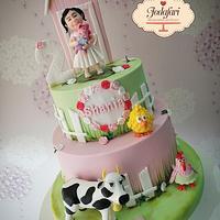 Torta personalizada Granjita