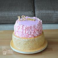 Ruffle cake fondant