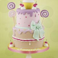 Girly lollipop cake