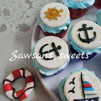 Naval academy cupcakes
