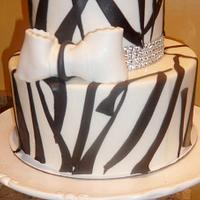 A ZEBRA THEMED BIRTHDAY CAKE